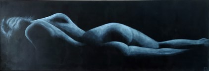 Patrick Jacquemijns - The blue couch (165 x 55 cm) - €1290