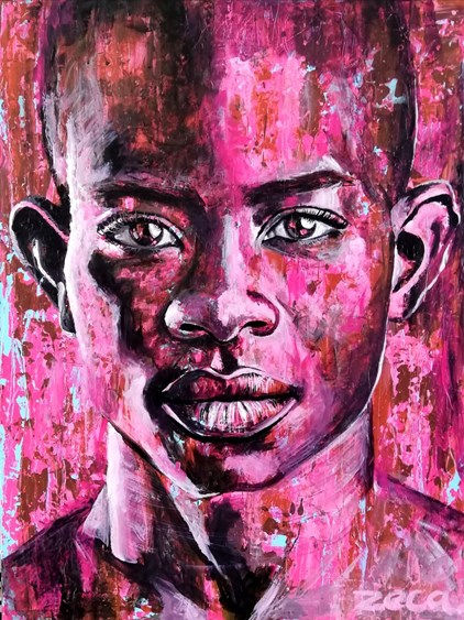 Zeca - Guy in pink (80 x 60 cm) - €550