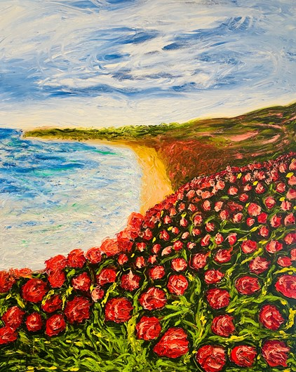 Yvonne Nijs - Poppies at the sea (80 x 100 cm) - €795