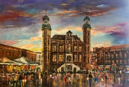 Farzad - Townhall Venlo (100 x 70 cm) - Sold