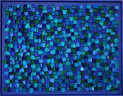 Ans Pullens - 7 Shades Blue (90 x 70 cm) - €1775