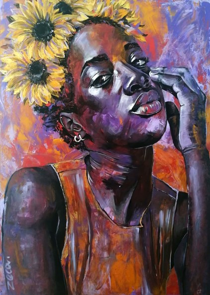Zeca - Flowergirl in Purple (100 x 140 cm) - €1590